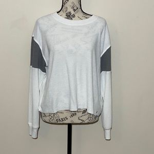 Hollister Boyfriend Tee White & Grey Size Small